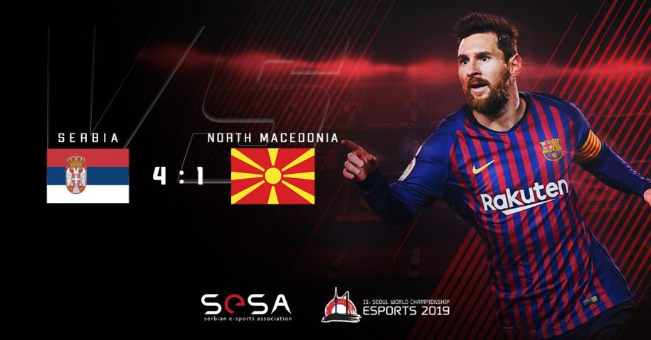Prijateljski PES2020 meč između Srbije i Severne Makedonije